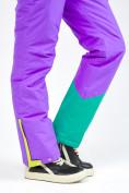 Оптом Женский зимний комбинезон фиолетового цвета 19691F в Казани, фото 17