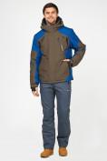 Оптом Мужской зимний горнолыжный костюм цвета хаки 01972Kh, фото 3