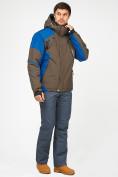 Оптом Мужской зимний горнолыжный костюм цвета хаки 01972Kh