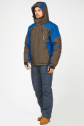 Оптом Мужской зимний горнолыжный костюм цвета хаки 01972Kh, фото 2