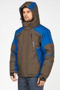 Оптом Мужской зимний горнолыжный костюм цвета хаки 01972Kh, фото 7