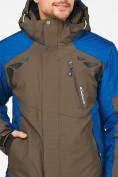 Оптом Мужской зимний горнолыжный костюм цвета хаки 01972Kh, фото 8