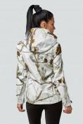 Оптом Ветровка softshell женская белого цвета 1977Bl в Казани, фото 4