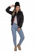 Интернет магазин MTFORCE.ru предлагает купить оптом куртку-бомбер женскую свободного кроя из нейлона черного цвета 1981Ch по выгодной и доступной цене с доставкой по всей России и СНГ