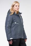 Оптом Куртка горнолыжная женская большого размера черного цвета 21982Ch, фото 2