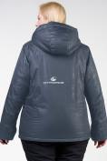 Оптом Куртка горнолыжная женская большого размера черного цвета 21982Ch, фото 8