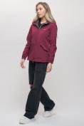 Оптом Ветровка MTFORCE женская бордового цвета 20014-1Bo, фото 4