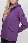 Оптом Ветровка MTFORCE женская фиолетового цвета 20014-1F, фото 11