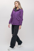 Оптом Ветровка MTFORCE женская фиолетового цвета 20014-1F в Екатеринбурге, фото 2