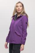 Оптом Ветровка MTFORCE женская фиолетового цвета 20014-1F, фото 3