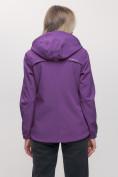 Оптом Ветровка MTFORCE женская фиолетового цвета 20014-1F, фото 4