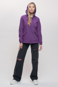 Оптом Ветровка MTFORCE женская фиолетового цвета 20014-1F в Екатеринбурге, фото 6