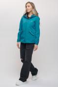 Оптом Ветровка MTFORCE женская бирюзового цвета 20014Br, фото 4