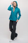 Оптом Ветровка MTFORCE женская бирюзового цвета 20014Br