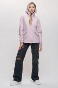 Оптом Ветровка MTFORCE женская розового цвета 20014R