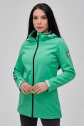 Оптом Парка женская осенняя весенняя softshell зеленого цвета 2023Z в Екатеринбурге, фото 5