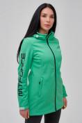 Оптом Парка женская осенняя весенняя softshell зеленого цвета 2023Z в Екатеринбурге, фото 6