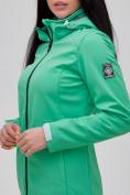 Оптом Парка женская осенняя весенняя softshell зеленого цвета 2023Z в Екатеринбурге, фото 7