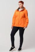 Оптом Ветровка MTFORCE bigsize оранжевого цвета 2034-1O, фото 4
