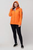 Оптом Ветровка MTFORCE bigsize оранжевого цвета 2034-1O, фото 6