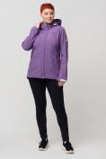 Оптом Ветровка MTFORCE bigsize фиолетового цвета 2034-1F, фото 5