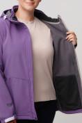 Оптом Ветровка MTFORCE bigsize фиолетового цвета 2034-1F, фото 10