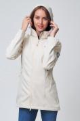 Оптом Ветровка MTFORCE женская бежевого цвета 2037B, фото 6