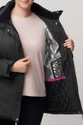 Оптом Горнолыжная куртка MTFORCE bigsize темно-серого цвета 2047TC, фото 9