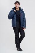 Оптом Горнолыжная куртка MTFORCE темно-синего цвета 2061TS, фото 4