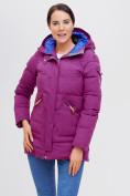 Оптом Куртка зимняя MTFORCE малинового цвета 2080M, фото 5