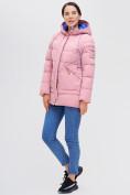 Оптом Куртка зимняя MTFORCE розового цвета 2080R, фото 4