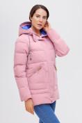 Оптом Куртка зимняя MTFORCE розового цвета 2080R, фото 9
