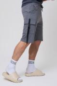 Оптом Летние шорты трикотажные мужские темно-серого цвета 21005TC, фото 10