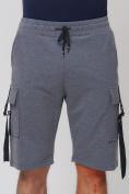 Оптом Летние шорты трикотажные мужские темно-серого цвета 21005TC, фото 11