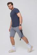 Оптом Летние шорты трикотажные мужские серого цвета 21005Sr, фото 3