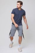 Оптом Летние шорты трикотажные мужские серого цвета 21005Sr, фото 2
