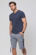 Оптом Летние шорты трикотажные мужские серого цвета 21005Sr, фото 6