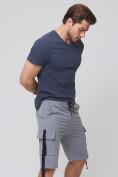 Оптом Летние шорты трикотажные мужские серого цвета 21005Sr, фото 7