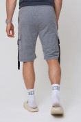 Оптом Летние шорты трикотажные мужские серого цвета 21005Sr, фото 10