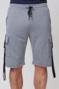 Оптом Летние шорты трикотажные мужские серого цвета 21005Sr, фото 12