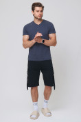 Оптом Летние шорты трикотажные мужские черного цвета 21005Ch, фото 2