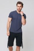 Оптом Летние шорты трикотажные мужские черного цвета 21005Ch, фото 3