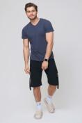 Оптом Летние шорты трикотажные мужские черного цвета 21005Ch, фото 5