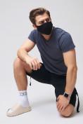 Оптом Летние шорты трикотажные мужские черного цвета 21005Ch, фото 16