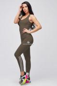 Оптом Спортивный костюм для фитнеса женский цвета хаки 21106Kh, фото 2
