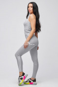 Оптом Спортивный костюм для фитнеса женский серого цвета 21106Sr, фото 2