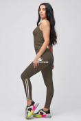 Оптом Спортивный костюм для фитнеса женский цвета хаки 21106Kh, фото 4