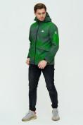 Оптом Ветровка подростковая MTFORCE зеленого цвета 2102Z в Екатеринбурге, фото 6