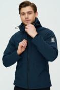 Оптом Ветровка мужская MTFORCE темно-синего цвета 2105TS в Екатеринбурге, фото 2