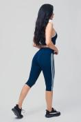 Оптом Спортивный костюм для фитнеса женский темно-синего цвета 212908TS, фото 5